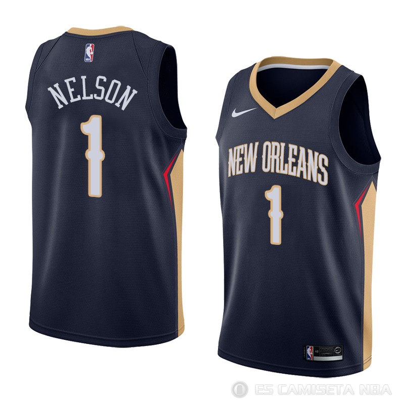 Camiseta Jameer Nelson NO 1 New Orleans Pelicans Icon 2018 Azul