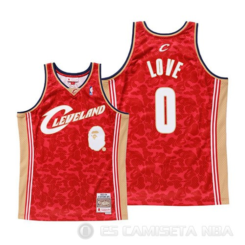 Camiseta Kevin Love #0 Cleveland Cavaliers Mitchell & Ness Rojo