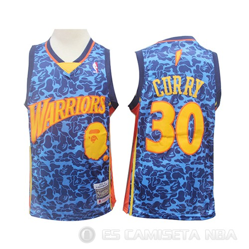 Camiseta Stephen Curry #30 Golden State Warriors Mitchell & Ness Azul