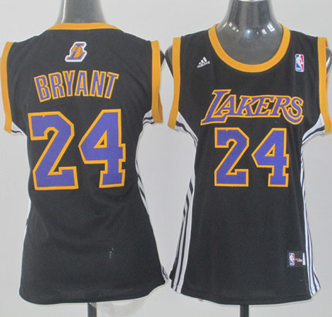 Camiseta Bryant Mod.1 #24 Los Angeles Lakers Mujer Negro