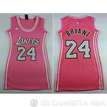 Camiseta #24 Los Angeles Lakers Mujer Rosa